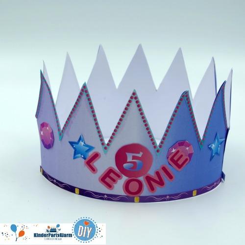 kindergeburtstag krone basteln