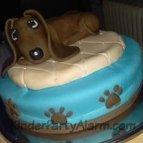 Kuscheltier Kindergeburtstag, Hund Kuchen