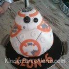 Star Wars Kinder Party, 3D Motiv Torte, BB8, R2D2