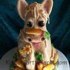 Pferde Kindergeburtstag, 3D Torte, Motivtorte