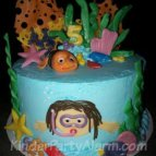 Wasser Party Torte, Pool Party Kindergeburtstag #kindergeburtstag #geburtstag #mottoparty #kinderpartyalarm #geburtstagsideen #kuchen #geburtstagskuchen #poolparty