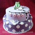 Eulen Geburtstagskuchen, Eulen Kindergeburtstag
