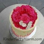 Kuchen mit echten Blumen, Prinzessin Kuchen