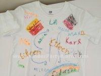 T-Shirt bemalen, Kindergeburtstag  #kindergeburtstag #geburtstag  #mottoparty #kinderpartyalarm #bastelnmitkindern #fussball #diy #kids