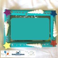 Bilderrahmen verzieren, Basteln beim Kindergeburtstag #kindergeburtstag #geburtstag  #mottoparty #kinderpartyalarm #bastelnmitkindern #geburtstagsideen #fotobooth #photobooth #kids