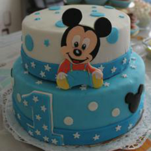 Baby Mickey Mouse Cake Decoration