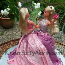 Kuchen, Barbie, Geburtstagskuchen, Zwillingsgeburtstag