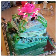 Meerjungfrau Party, Delphin, Delfin 3D, Motivtorte