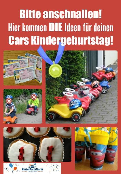 Cars Kindergeburtstag Party Ideen für Essen, Basteln, Spiele, ... #kindergeburtstag #geburtstag  #mottoparty #kinderpartyalarm