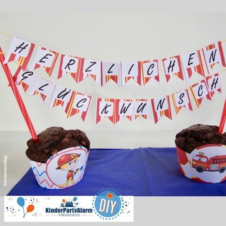 ... eine super Idee für deinen Feuerehr Kindergeburtstag. #kindergeburtstag #geburtstag #mottoparty #kinderpartyalarm  #geburtstagsideen #kuchen #feuerwehr
