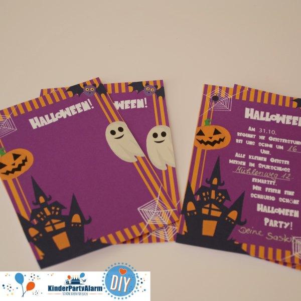 Schaurig schöne Halloween Party Einladung Ideen für Kinder auch zum Halloween Kindergeburtstag für Essen, Basteln, Deko ... #kindergeburtstag #mottoparty #kinderpartyalarm #kids #einladung #printables