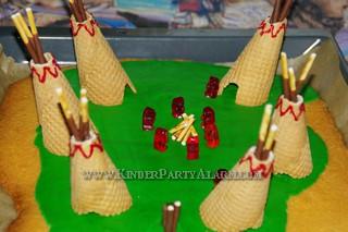 Indianer Kindergeburtstag Kuchen