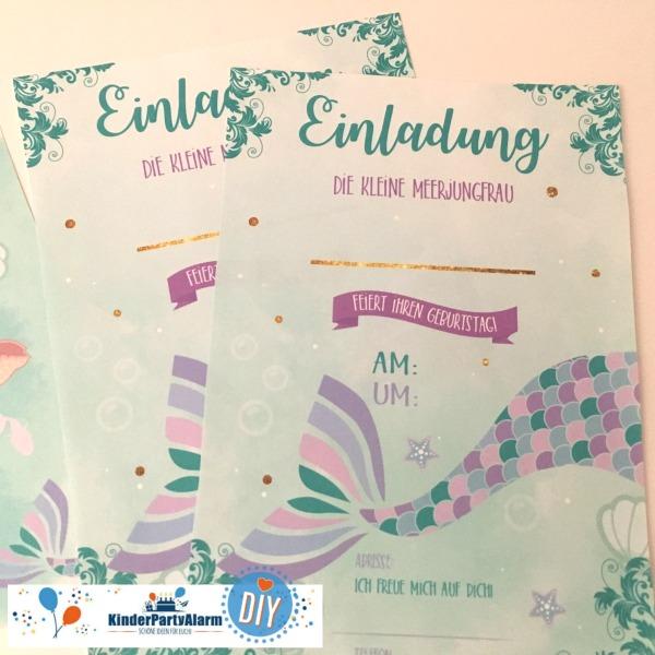 Meerjungfrau Einladung, Basteln beim Meerjungfrau Geburtstag #kindergeburtstag #geburtstag  #mottoparty #kinderpartyalarm #bastelnmitkindern #meerjungfrau #printables #kids #diy