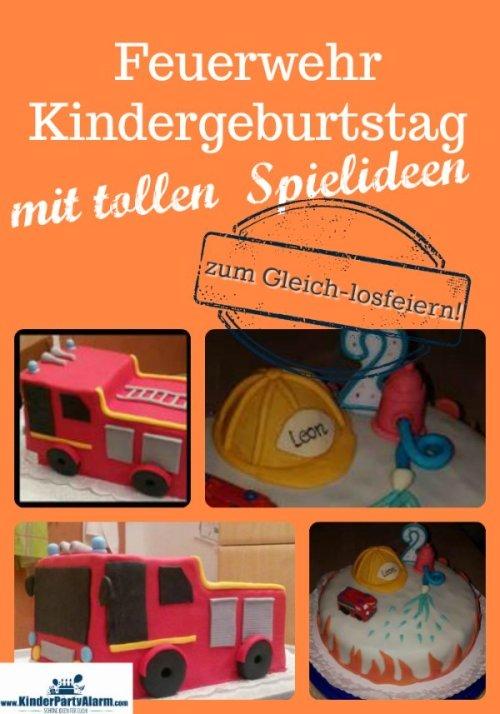 Feuerwehr Geburtstag mit tollen Ideen für Spiele, Essen und Deko #kindergeburtstag #geburtstag #mottoparty #kinderpartyalarm #feuerwehr