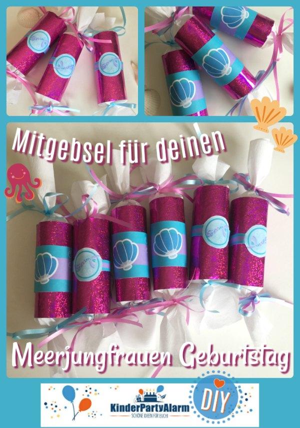 Meerjungfrau Mitgebsel #kindergeburtstag #geburtstag  #mottoparty #kinderpartyalarm #mitgebsel #diy #printables #kids #meerjungfrau #favor