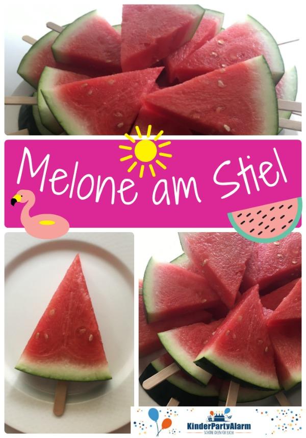 Melone am Stiel, Snack beim Kindergeburtstag #kindergeburtstag #geburtstag  #mottoparty #kinderpartyalarm #bastelnmitkindern #geburtstagsideen #poolparty