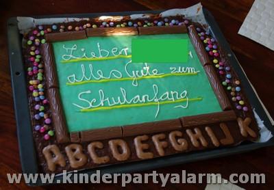 Schultafel Kuchen Einschulung