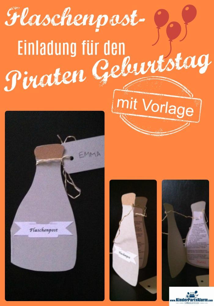Flaschenpost Einladung Zum Piratengeburtstag Schnell Selber Basteln