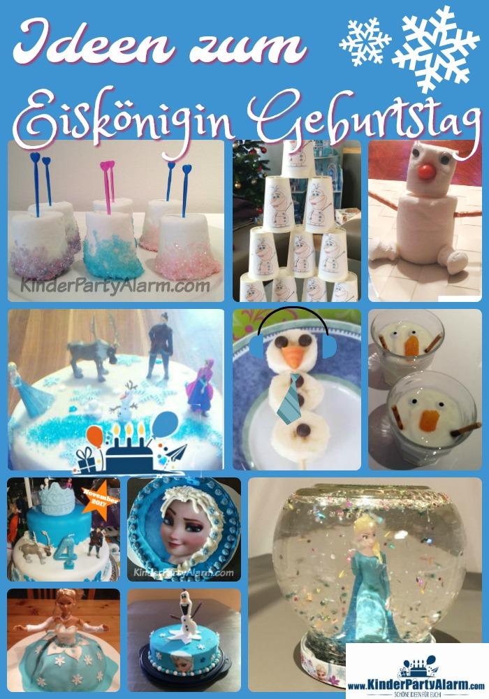 Ideen Zum Basteln, Essen Und Für Spiele Beim Eiskönigin Kindergeburtstag # Kindergeburtstag #geburtstag #