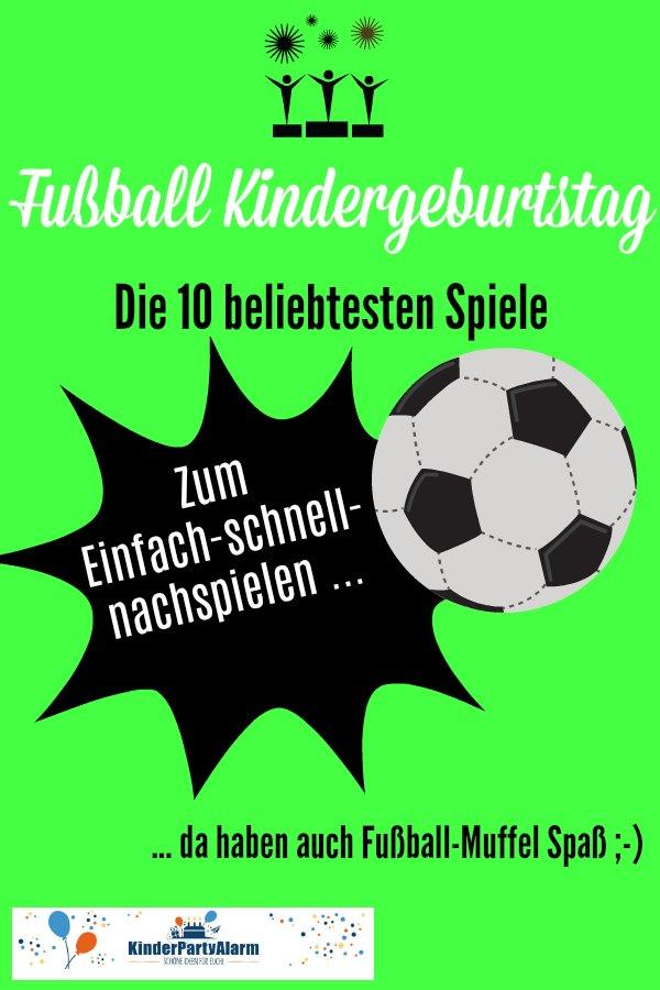 Fussball Kindergeburtstag Spiele