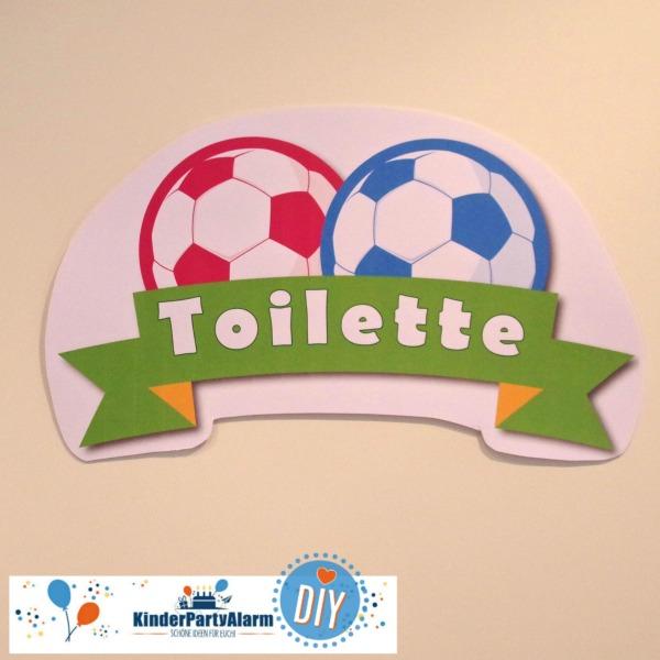 Fußball Kindergeburtstag Toilettenschild #entspanntkindergeburtstagfeiern #mottoparty #kinderpartyalarm #fussball