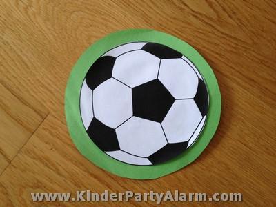 fußball kindergeburtstag, Einladung
