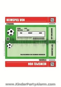 Fußball Ticket Einladung