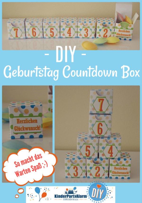 Geburtstag Countdown Box #kindergeburtstag #geburtstag  #mottoparty #kinderpartyalarm #bastelnmitkindern #diy #kids #printables #lustig #countdown