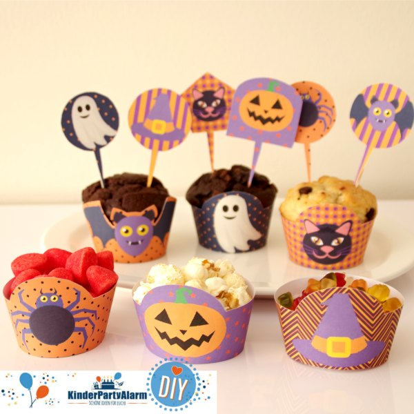 Dekoration bei der Halloween Party #kindergeburtstag #geburtstag  #mottoparty #kinderpartyalarm #geburtstagsideen #diy #printables #kids #halloween