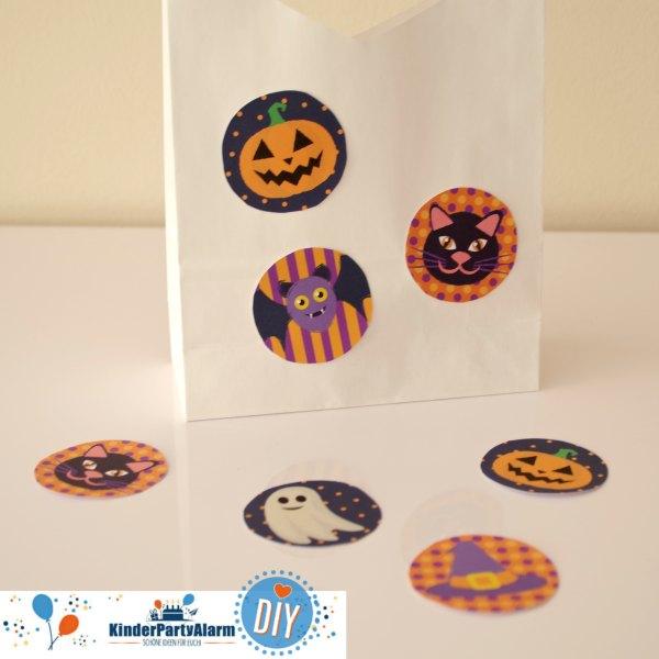 Halloween Sammeltaschen basteln, Basteln Halloween Party #kindergeburtstag #geburtstag  #mottoparty #kinderpartyalarm #bastelnmitkindern #diy #kids #favor #mitgebsel