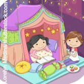 Kindergeburtstag Pyjama Party