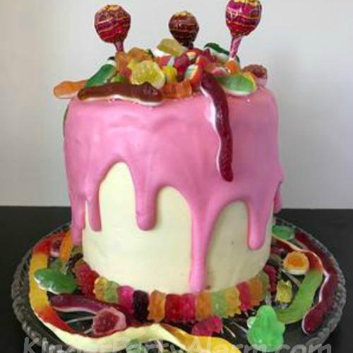 Candy Drip Cake, Pyjama Party, Glamour Geburtstag