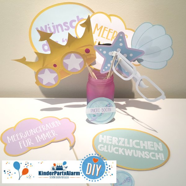 Meerjungfrau Photo Booth, Fotoshooting beim Kindergeburtstag #kindergeburtstag #geburtstag  #mottoparty #kinderpartyalarm #diy #kids #favor #mitgebsel #meerjungfrau #photobooth #fotobooth