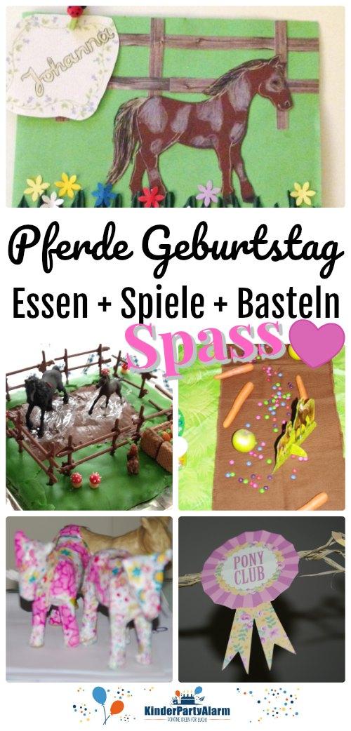 Tolle Ideen für deine Pferde Geburtstagsparty - Und noch mehr Ideen für Einladungen, Dekoration, Essen, Basteln, Spiele und Mitgebsel findest du auf https://www.kinderpartyalarm.com
