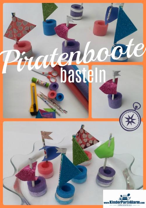 Piratenboote basteln, Basteln beim Piraten Geburtstag #kindergeburtstag #geburtstag  #mottoparty #kinderpartyalarm #bastelnmitkindern