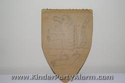 Ritter Schutschild für Ritter Kindergeburtstag basteln