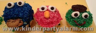 Freunde aus der Sesamstrasse als Muffin: Krümelmonster, Elmo, Oscar