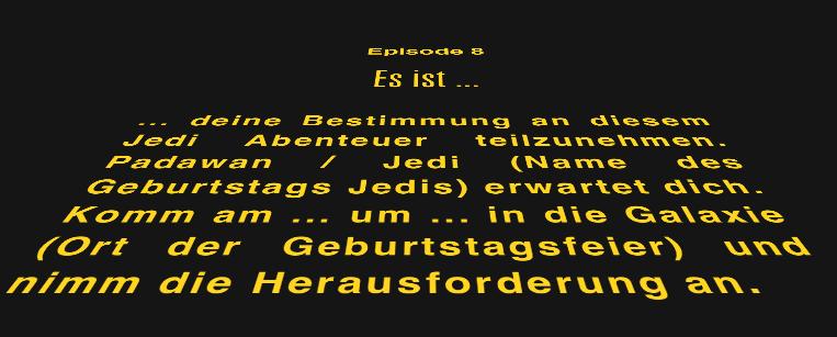 Schön ... Star Wars Einladungen. Mit ...