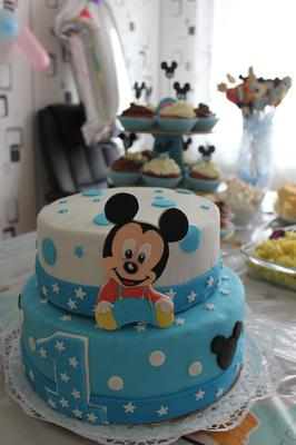 baby mickey mouse torte. Black Bedroom Furniture Sets. Home Design Ideas
