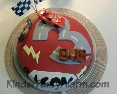 Cooler Cars Kindergeburtstag Kuchen