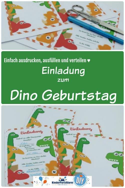 Einladung zum Dino Kindergeburtstag basteln - dino geburtstag einladung, diy einladung, dinosaurier party einladung, dino geburtstag einladung basteln, dinosaurier party einladung basteln