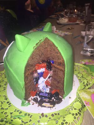 Die fertige Eulen Torte