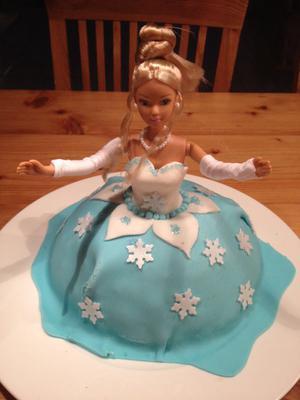 Eiskönigin-Elsa Kuchen