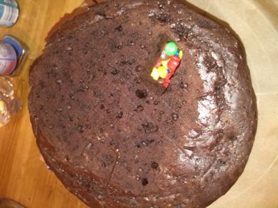 Der Kuchen angeschnitten