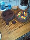 Füllung der unteren Kuchenhälfte