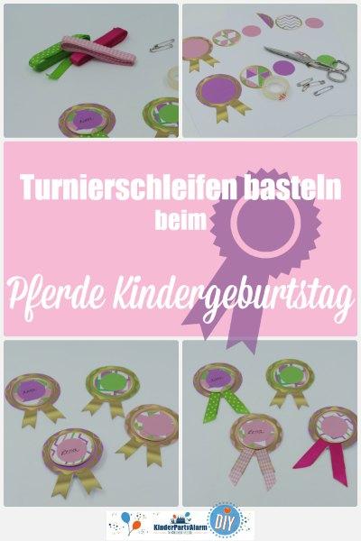 Turnierschleifen basteln, Basteln beim Pferde Geburtstag #kindergeburtstag #geburtstag  #mottoparty #kinderpartyalarm #bastelnmitkindern #diy