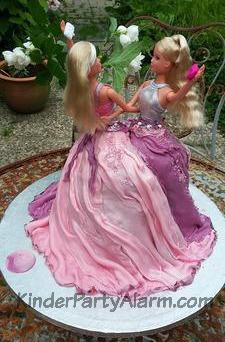 3D Torte, Barbie Torte, Kindergeburtstag Kuchen