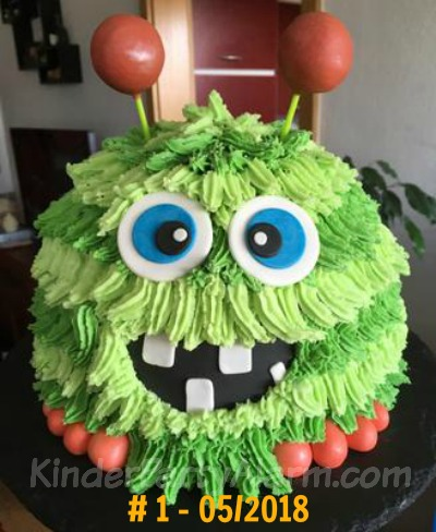 Kuchen beim Monster Kindergeburtstag #kindergeburtstag #geburtstag  #mottoparty #kinderpartyalarm #geburtstagsideen #kuchen