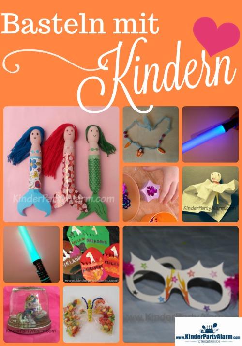 Basteln mit Kindern, Basteln beim Kindergeburtstag #kindergeburtstag #geburtstag  #mottoparty #kinderpartyalarm #bastelnmitkindern