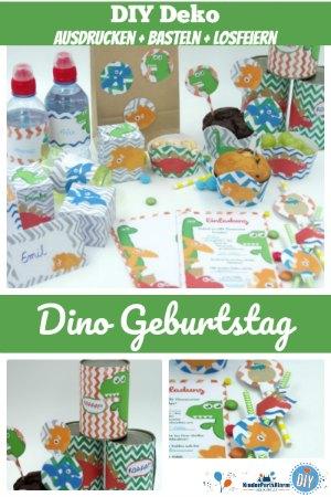 Dino Party Printables, DIY Deko für deine Dino Geburtstagsparty - dino geburtstag deko, diy einladung, dinosaurier party einladung, dino geburtstag einladung basteln